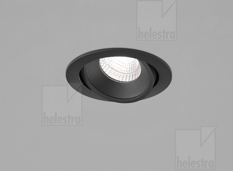 Helestra SID  recessed ceiling luminaire  mat black